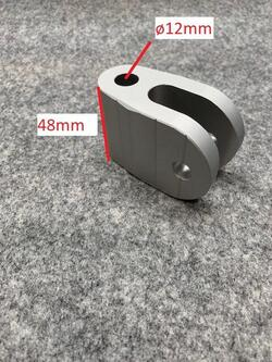 Kardanled M12 - for 12mm svanehalsbolt