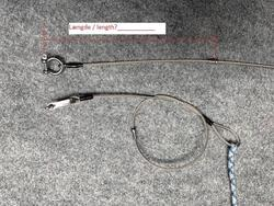 Halyard, 3mm wire with hook ball, 6mm rope (Yngling)